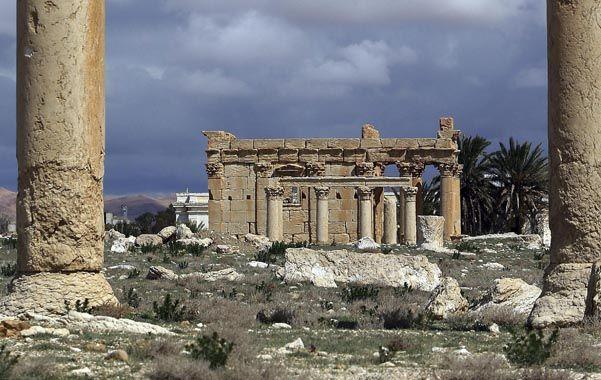 Demolido. El templo de Baalshamin