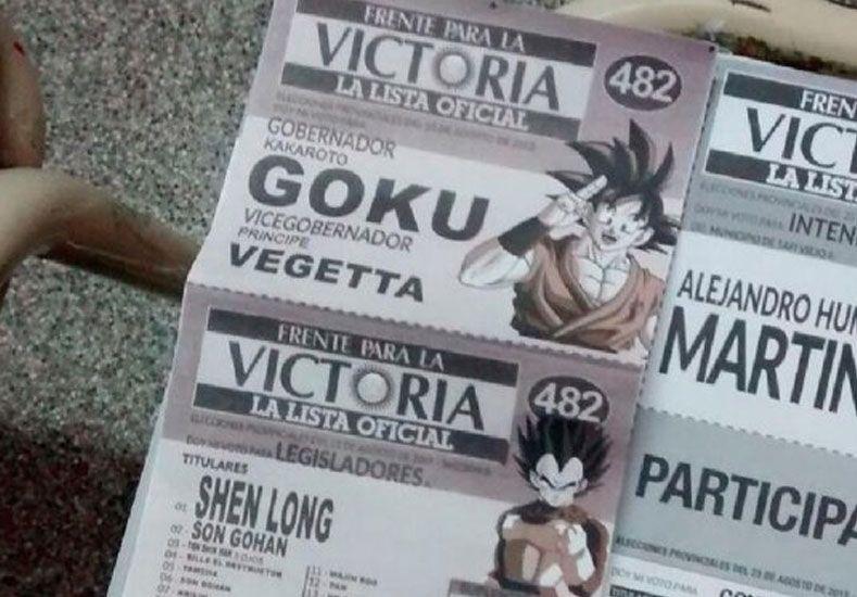 Insólito: en Tucumán aparecieron boletas con los personajes de Dragon Ball