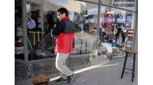 El local víctima de los delincuentes. / Manuel Testi.