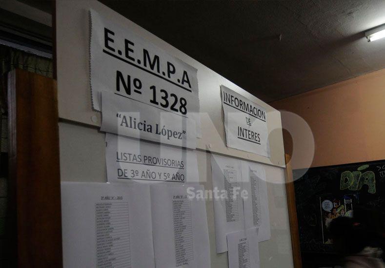 La institución. Funciona en la sede de la escuela primaria Nº 534. Foto: José Busiemi / Diario UNO Santa Fe