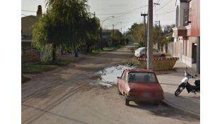 La esquina del crimen.  Agustín fue atacado a menos de una cuadra de distancia de su casa.
