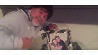 Diego, desde Dubai, publicó un video que alterará a Dalma y a Gianinna