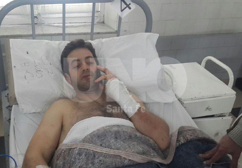 Francisco Lazzarini de 33 años fue baleado por delincuentes.
