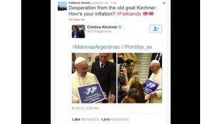 En Malvinas rechazaron el gesto de Francisco y llamaron vieja cabra a Cristina Kirchner