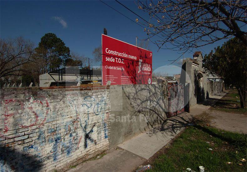 El terreno. Está ubicado en Rivadavia al 7000 y Educación cedió una parte a Seguridad / Foto: José Busiemi - Uno Santa Fe