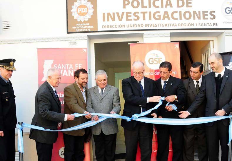 Inauguraron el nuevo edificio de la Policía de Investigaciones (PDI) en Santa Fe