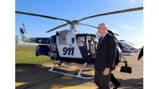 La provincia terminará la gestión con cuatro helicópteros, aseguró el gobernador Bonfatti