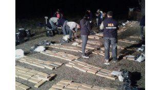 Paraná: tenían 1.294 kilos de marihuana en una casilla de chapa