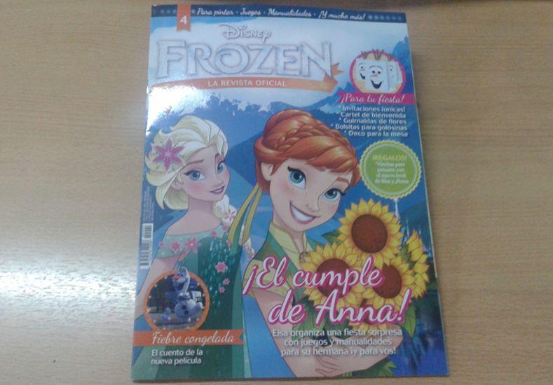 Este martes pedí con el UNO, la revista Oficial de Frozen