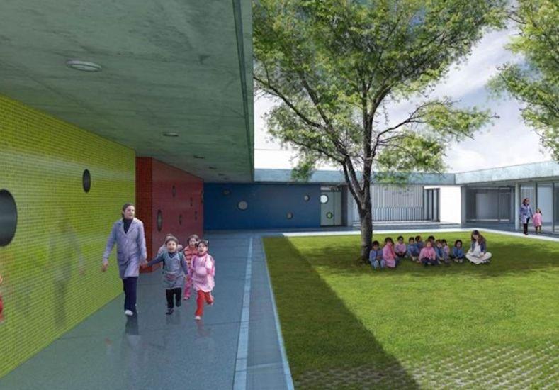 Las Flores: avanza a buen ritmo la construcción del Jardín Municipal