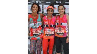 Corrió maratón, sin protección femenina