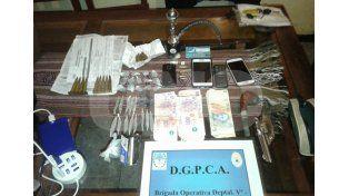 Rafaela: hubo allanamientos con dos vendedores barriales de drogas detenidos
