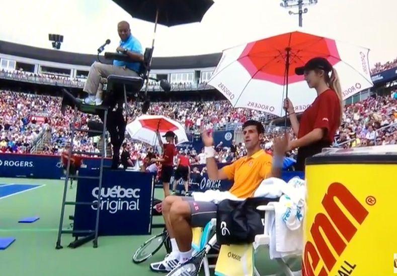 Djokovic en pleno partido: Estoy mareado, alguien está fumando marihuana