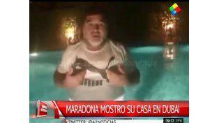 Diego Maradona y un tour virtual por su casa en Dubai