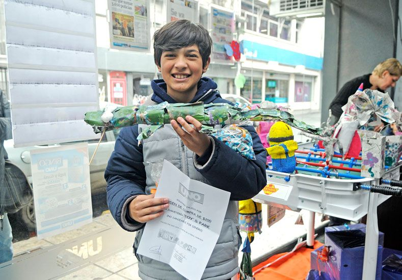Franco Ferrante se ganó una orden de compra de Toys Park.
