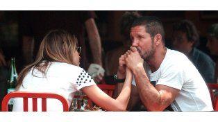 El Cholo Simeone y su novia, Carla Pereyra, estarían esperando su primer hijo