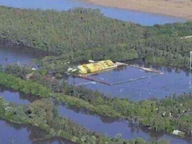 Terribles imágenes: un club entero quedó bajo el agua