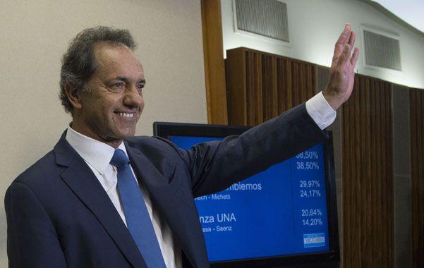 Victoria. Scioli superó por casi 3 millones de votos al líder de Cambiemos.
