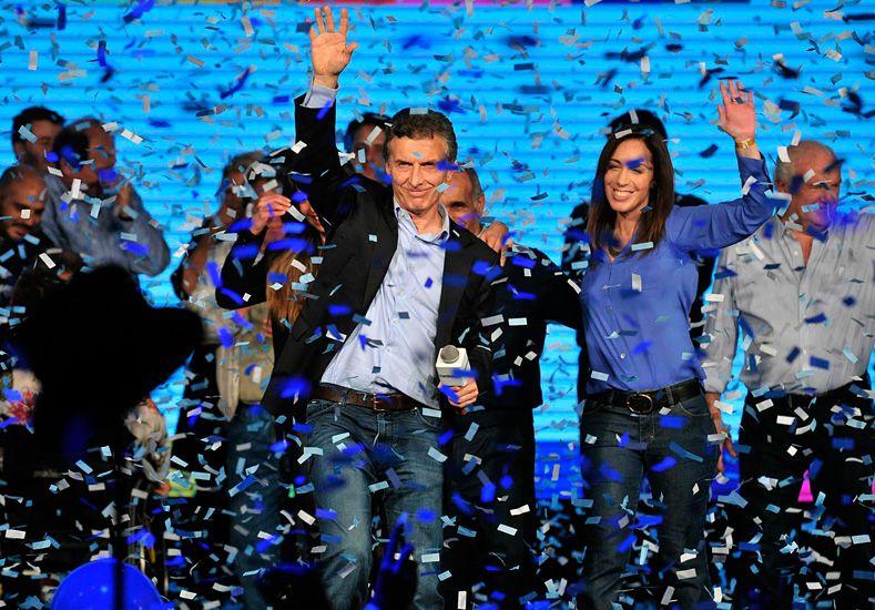 Eufórico. Macri brindó a sus seguidores un discurso cargado de emotividad./ Télam