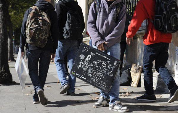 A clases. Balagué destacó que más de 10 mil jóvenes retomaron la escuela secundaria por el plan provincial. (foto: Leonardo Vincenti)