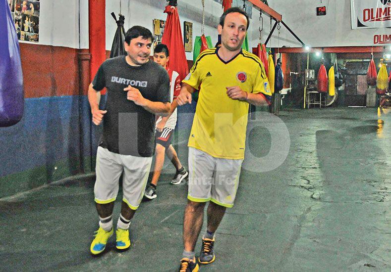 Entrenamiento. La gimnasia del boxeo es muy práctica y ayuda mucho a mejorar la calidad de vida. Manuel Testi/ Diario UNO.