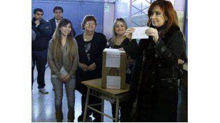 La presidenta votó este mediodía en Río Gallegos.