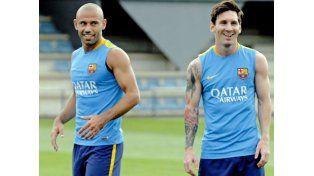 Messi y Mascherano, adentro; Neymar, baja por paperas