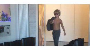 Los primeros pasos del hijo de Wanda como modelo