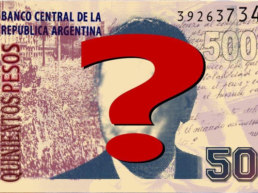 Reclaman el billete de 500 pesos