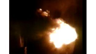 Video: se incendió un contenedor en Sargento Cabral