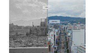 El impresionante antes y después de la reconstrucción de Hiroshima