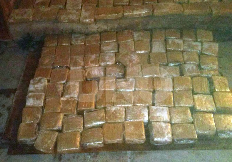 Secuestraron 134 kilos de marihuana en Gato Colorado
