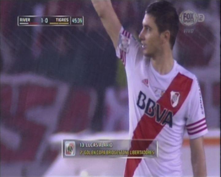 EN VIVO Alario, bajo la lluvia, le da la victoria a River en la final ante Tigres