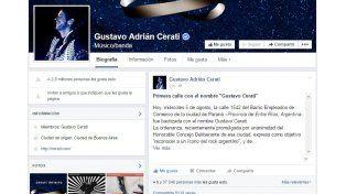 Fans del mundo festejan la calle Gustavo Cerati