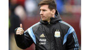 Messi no se bajó del partido amistoso contra México