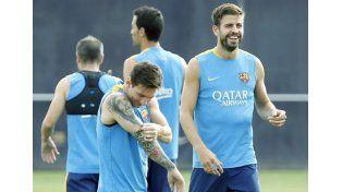 Así fue el primer entrenamiento de Messi y Masche en su regreso a Barcelona