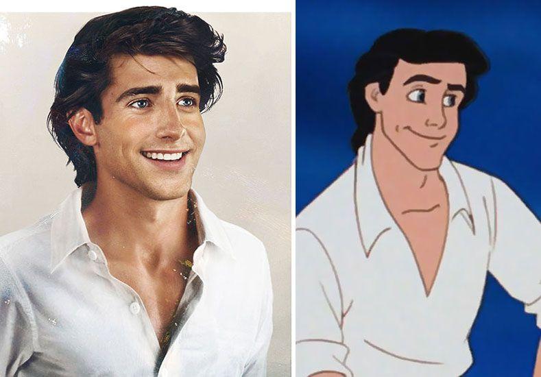 El Príncipe Eric de La Sirenita   Fuente: Pública   Facebook: Jirka Vinse / Disney