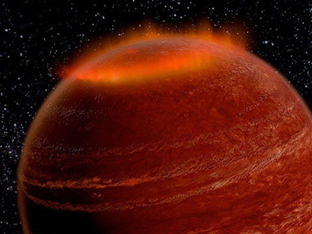 Descubren la primera aurora gigante fuera del Sistema Solar