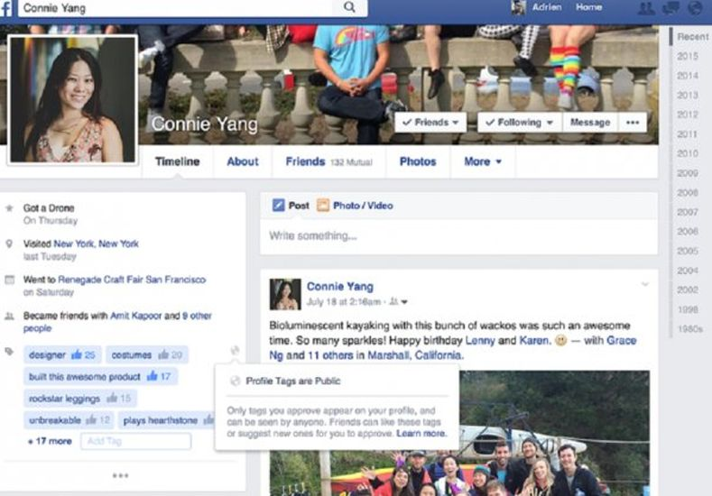Facebook permitirá que tus amigos agreguen tus habilidades
