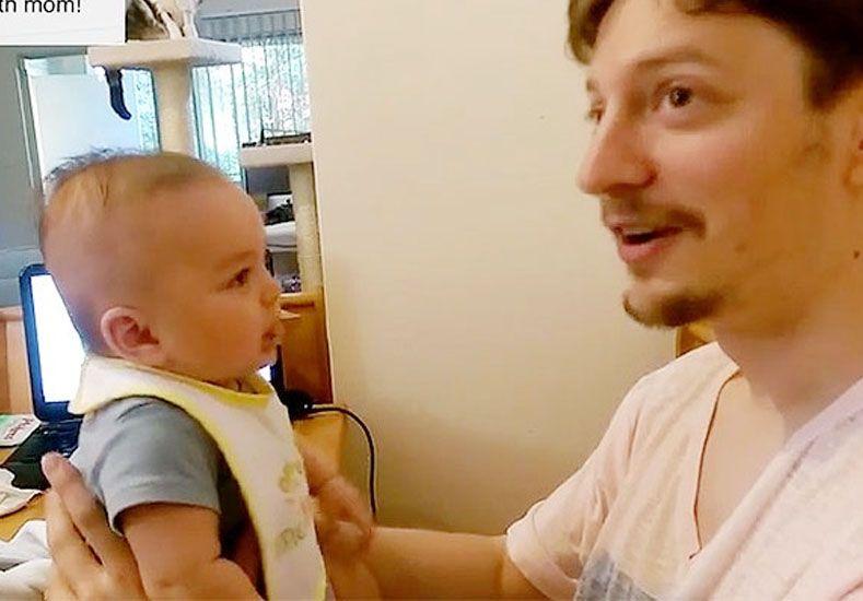 Bebé de 3 meses sorprende a sus padres diciendo I love you
