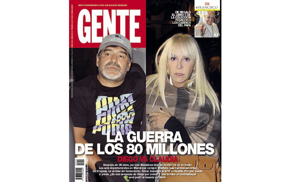 Claudia Villafañe pretende que a Maradona se lo declare insano