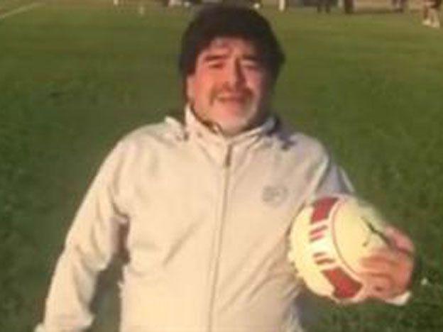 Con pelota en mano: Maradona le habló a los argentinos