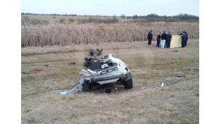 Así quedó el auto tras el impacto./ gentileza @veroensinas