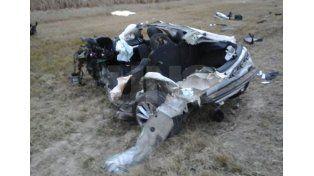 Así quedó el auto tras el impacto con el camión./ gentileza Fm Costa blanca