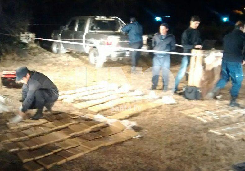 Secuestraron 194 ladrillos de marihuana en un procedimiento en la localidad de Andino