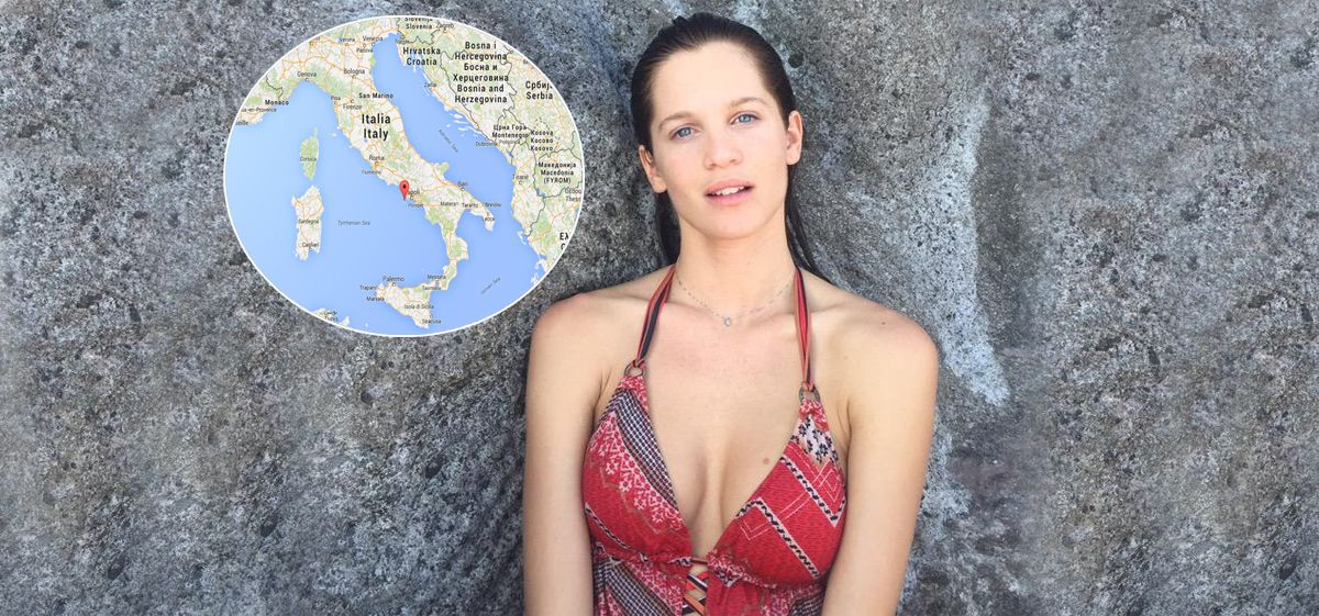Las fotos de Liz Solari en una paradisíaca isla italiana