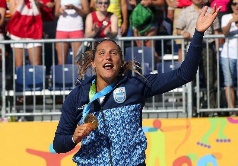Georgina Klug le dio a Santa Fe y a la Argentina la medalla de oro en beach vóley.