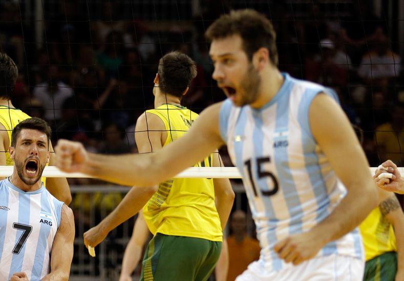 Luciano De Cecco volvió ser clave para que la Argentina sume una nueva medalla de oro