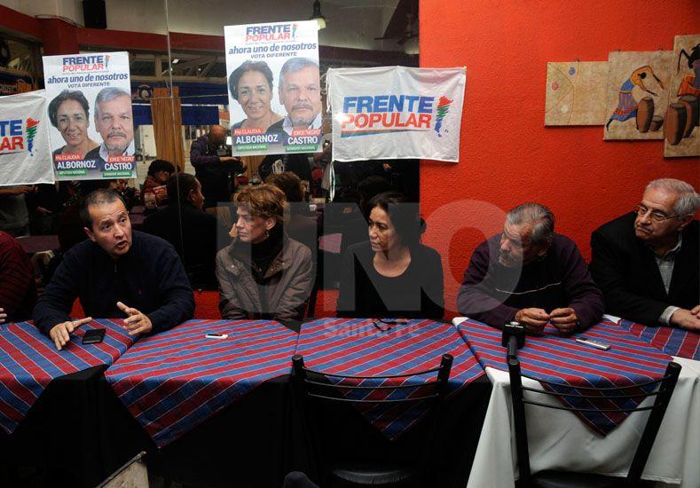 En Santa Fe. Del Frade acompañó a los precandidatos locales. Foto: Mauricio Centurión / Diario UNO Santa Fe