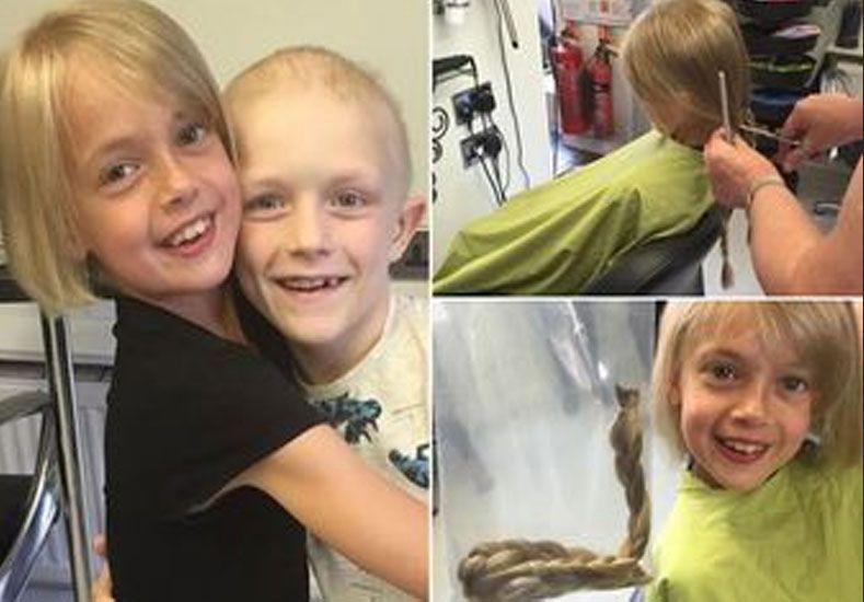 Conmueve la niña que le regaló su pelo a amiguito con cáncer